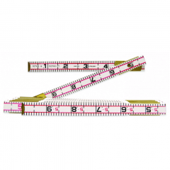 Lufkin 1066DN 5/8 in. X 6 ft. Red End Engineer's Scale Wood Rule