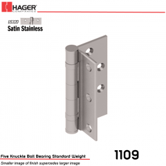 Hager 1109 4.5 US32D Half Mortise Hinge Stock No 004154