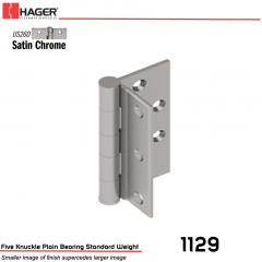 Hager 1129 4.5 US26D Half Mortise Hinge Stock No 004199