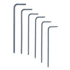 Bondhus Ball-Star End Long Arm L-Wrench 6pc Set (LTX6) Corrosion Resistant