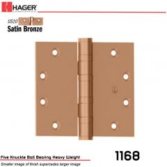 Hager 1168 5 x 4.5 US10 Full Mortise Hinge Stock No 004802
