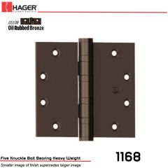 Hager 1168 5 x 5 US10B Full Mortise Hinge Stock No 004974