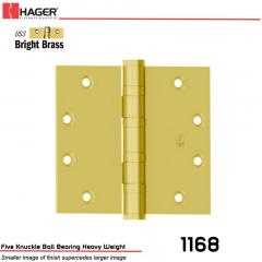 Hager 1168 4.5 x 4.5 US3 Full Mortise Hinge Stock No 004671