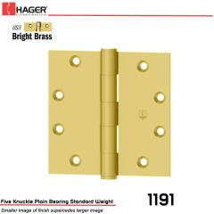 Hager 1191 4.5 x 4.5 US3 Full Mortise Hinge Stock No 006517