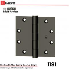 Hager 1191 4.5 x 4.5 US32 Full Mortise Hinge Stock No 006531