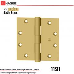 Hager 1191 4.5 x 4.5 US4 Full Mortise Hinge Stock No 006570
