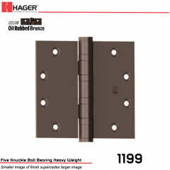 Hager 1199 5 x 5 US10B Full Mortise Hinge Stock No 007689
