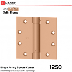 Hager 1250 4.5 x 4.5 US10 Full Mortise Hinge Stock No 008021