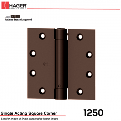 Hager 1250 4.5 x 4.5 US10A Full Mortise Hinge Stock No 008023