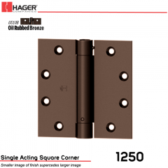 Hager 1250 4.5 x 4.5 US10B Full Mortise Hinge Stock No 008025