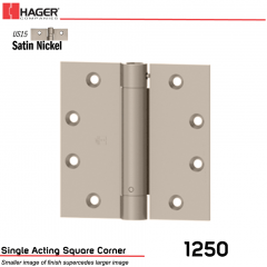 Hager 1250 4.5 x 4.5 US15 Full Mortise Hinge Stock No 008029