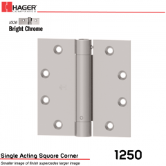 Hager 1250 4.5 x 4.5 US26 Full Mortise Hinge Stock No 008034