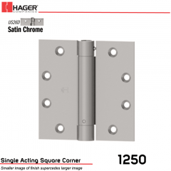 Hager 1250 4.5 x 4.5 US26D Full Mortise Hinge Stock No 008037