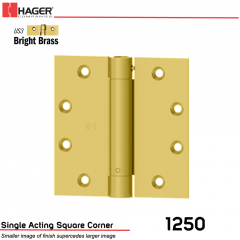 Hager 1250 4.5 x 4.5 US3 Full Mortise Hinge Stock No 008039