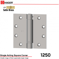 Hager 1250 4.5 x 4.5 US4 Full Mortise Hinge Stock No 008041
