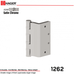 Hager 1262 5 US26D Full Mortise Hinge Stock No 008199
