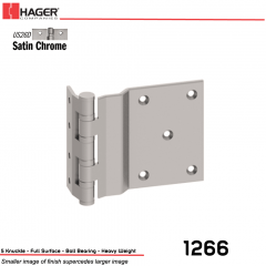 Hager 1266 5 US26D Full Surface Hinge Stock No 008261