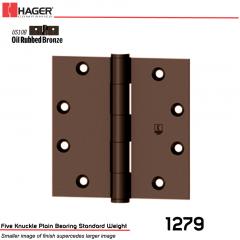 Hager 1279 4 x 4 US10B Full Mortise Hinge Stock No 011071