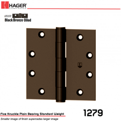 Hager 1279 4 x 4 US10D Full Mortise Hinge Stock No 035190