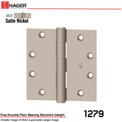 Hager 1279 4 x 4 US15 Full Mortise Hinge Stock No 003042