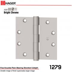 Hager 1279 4 x 4 US26 Full Mortise Hinge Stock No 011075