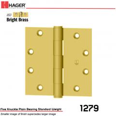 Hager 1279 4 x 4 US3 Full Mortise Hinge Stock No 011092