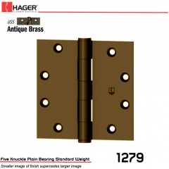 Hager 1279 4 x 4 US5 Full Mortise Hinge Stock No 008565