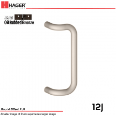Hager 12J Round Offset Pull 10 in. US10B Stock No 059163
