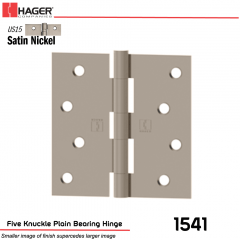 Hager 1541 US15 Full Mortise Hinge Stock No 035737