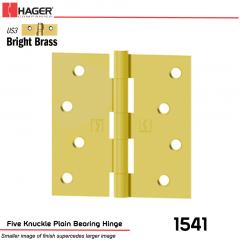 Hager 1541 US3 Full Mortise Hinge Stock No 030149