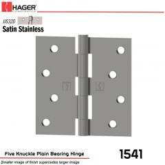 Hager 1541 US32D Full Mortise Hinge Stock No 030154