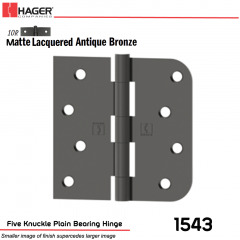 Hager 1543 US10R Full Mortise Hinge Stock No 036911