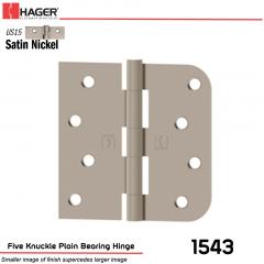 Hager 1543 US15 Full Mortise Hinge Stock No 071462
