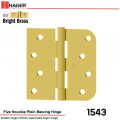 Hager 1543 US3 Full Mortise Hinge Stock No 071461