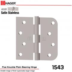 Hager 1543 US32D Full Mortise Hinge Stock No 075844