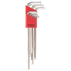 Bondhus Hex End X-Long Arm L-Wrench Metric 9pc Set (HLX9MB) Chrome finish