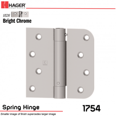 Hager 1754 US26 Full Mortise Hinge Stock No 170484
