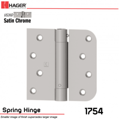 Hager 1754 US26D Full Mortise Hinge Stock No 170485