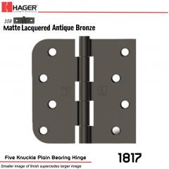 Hager 1817 US10R Full Mortise Hinge Stock No 041719