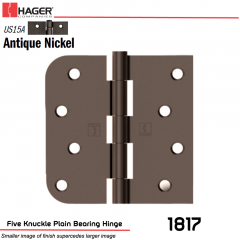 Hager 1817 US15A Full Mortise Hinge Stock No 070453