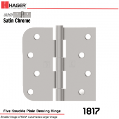 Hager 1817 US26D Full Mortise Hinge Stock No 070476