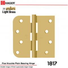 Hager 1817 US3LB Full Mortise Hinge Stock No 070417
