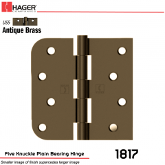 Hager 1817 US5 Full Mortise Hinge Stock No 070445