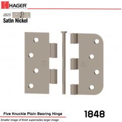 Hager 1848 US15 Full Mortise Hinge Stock No 068735