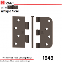Hager 1848 US15A Full Mortise Hinge Stock No 068713