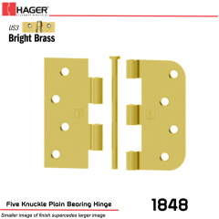 Hager 1848 US3 Full Mortise Hinge Stock No 068746