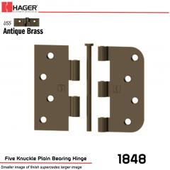 Hager 1848 US5 Full Mortise Hinge Stock No 067438
