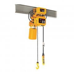 Bison HHBDSK01-01D+WPC01D: 1 Ton 3 Phase Dual Speed Electric Chain Hoist with Trolley 20 ft. Lift