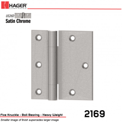 Hager 2169 6 US26D Full Surface Hinge Stock No 012929