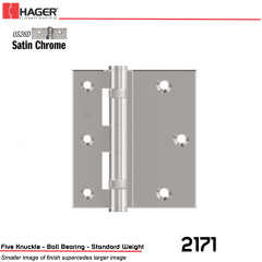 Hager 2171 4.5 US26D Full Surface Hinge Stock No 012940